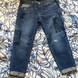NWT White House Black Market Girlfriend Jeans